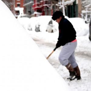 shoveling up